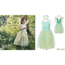 Robe turquoise Josiane - Déguisement pour fille