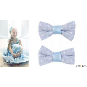 Barrettes velcro bleues - Delphi - 1 paire - Accessoire pour enfants