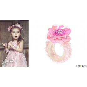 Bague Jessy - Rose - Bijou enfant