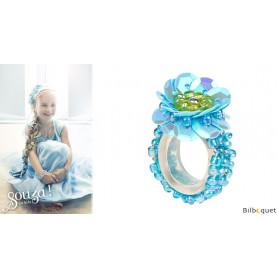 Bague Jessy - Aqua - Bijou enfant