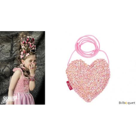 Sac à main coeur rose Emma - Accessoire pour les filles
