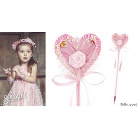 Baguette magique Pixie - Rose - Accessoire pour déguisement enfant