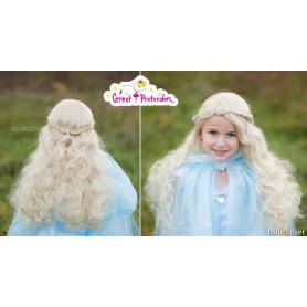 Perruque de Princesse blonde - 53 cm - Accessoire déguisement