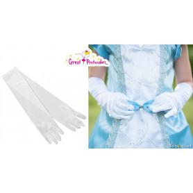 Gants de princesse blancs - Accessoire pour déguisement