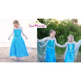 Robe Reine de Cristal - bleu - Déguisement fille
