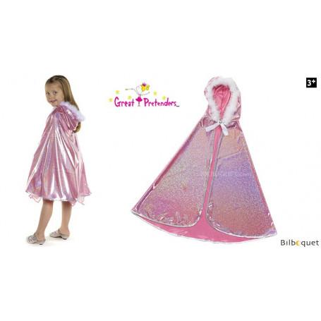 Cape Princesse pailletée rose - Déguisement enfant
