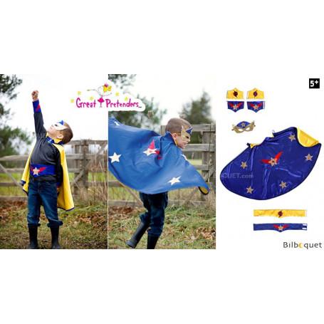 Panoplie Super Héros bleu/jaune - Déguisement enfant