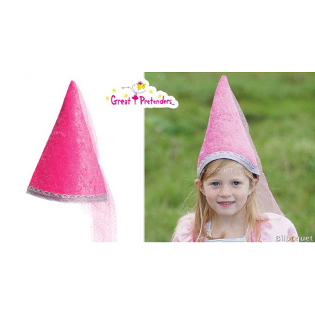 Chapeau de fée rose pailleté - Accessoire déguisement fille
