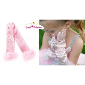 Gants de princesse roses - Accessoire pour déguisement