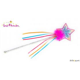Baguette magique étoile rainbow - Accessoire déguisement