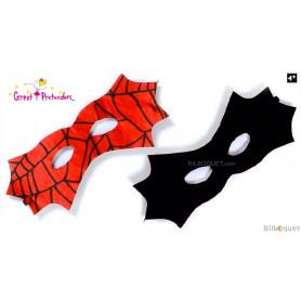 Masque réversible Batman/Spiderman - Accessoire déguisement