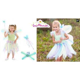 Robe Papillon avec ailes et baguettes - Déguisement fille