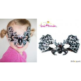 Masque de chauve-souris pailleté - Accessoire déguisement