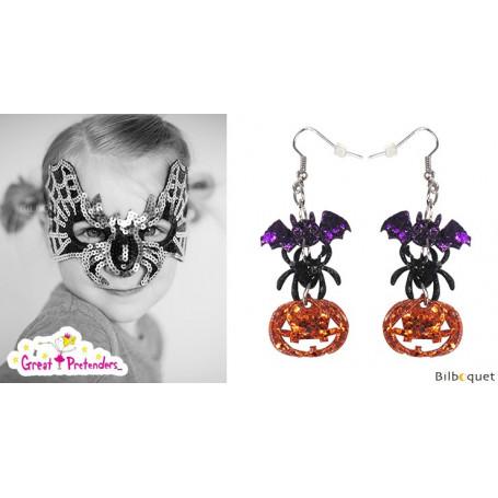 Paire de boucles d'oreilles d'Halloween