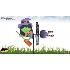 Eolienne Sorcière 43cm - Petite éolienne décorative