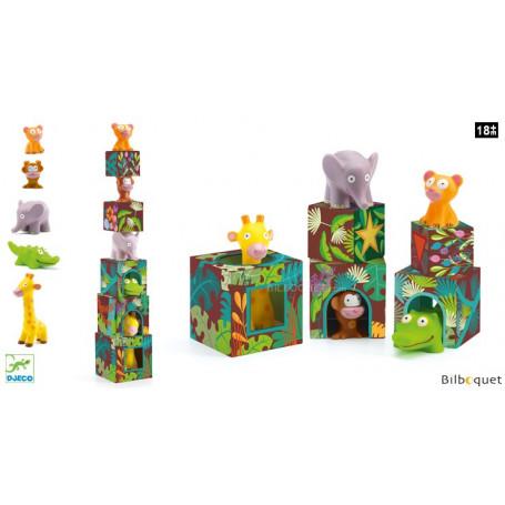 Maxi Topanijungle - 5 cubes et 5 animaux