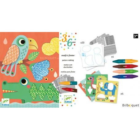 Motifs à frotter - Les amis de Magali - Loisir créatif 3-6 ans