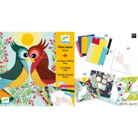 Plissé papier - Oiseaux - Loisir créatif 7-13ans