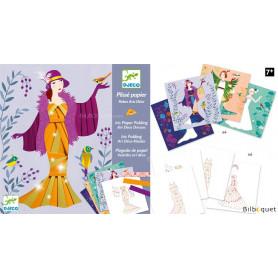 Plissé papier - Robes Art Déco - Loisir créatif 7-13ans