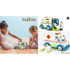 L'ambulance et le docteur - Jouet en bois