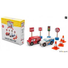 Kit routier - Petites voitures et accessoires en bois