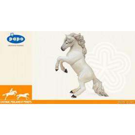 Cheval cabré blanc - Figurine en plastique