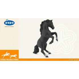 Cheval cabré noir - Figurine Papo