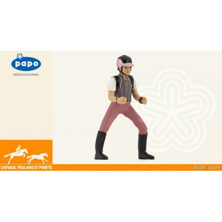 Jeune cavalière fashion - Figurine jouet