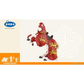 Cheval du roi Richard rouge - Figurine médiévale
