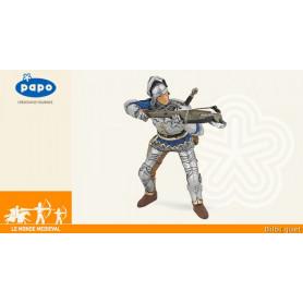 Arbalétrier bleu en armure - Figurine monde médiéval