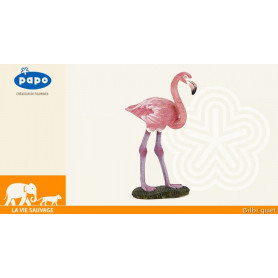 Flamant rose - Figurine d'oiseau