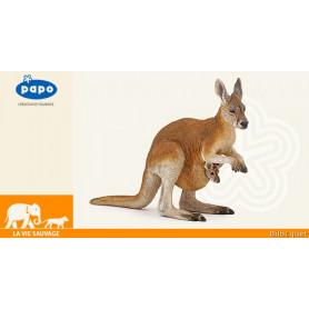 Kangourou et son bébé - Figurine Papo