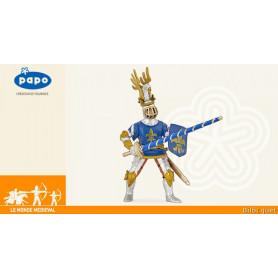 Chevalier bleu fleur de lys - Figurine jouet