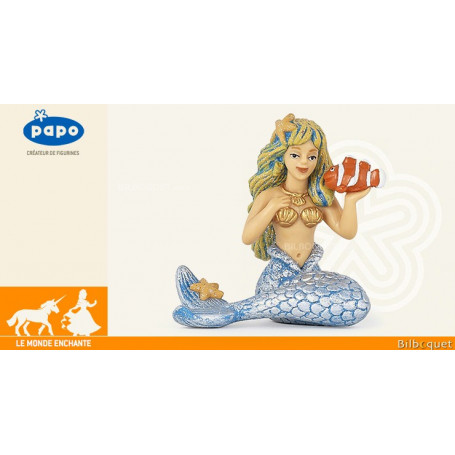 Sirène argentée - Figurine jouet