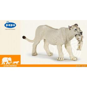 Lionne blanche avec lionceau - Figurine à collectionner