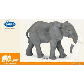 Grand éléphant d'Afrique - Grande figurine Papo 27cm
