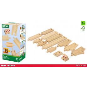 Coffret de démarrage - Rails pour circuit de train en bois (13 pièces)