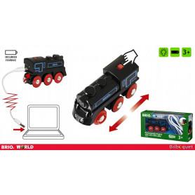 Locomotive rechargeable avec câble mini USB