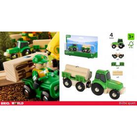 Tracteur avec remorque et chargement - Véhicules BRIO