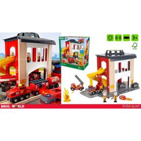 Caserne de pompiers - Bâtiments et accessoires BRIO