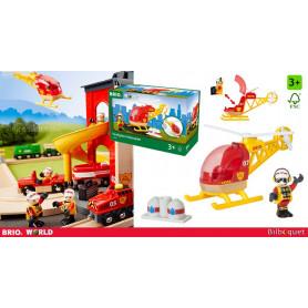 Hélicoptère des pompiers - Véhicules BRIO