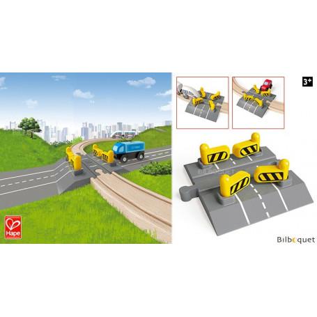 Passage à niveau ferroviaire automatique - Accessoire train en bois