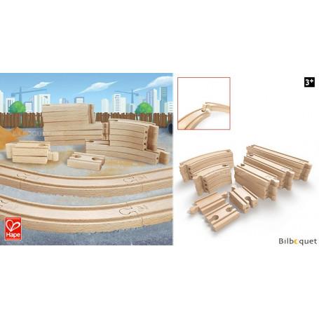 Ensemble de rails super extension pour circuit de train en bois
