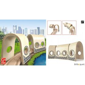Triple tunnel - Complément pour le train en bois