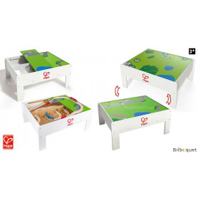 Table de jeu et rangement train avec décor réversible