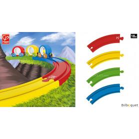 Coffret de rails Arc-en-ciel pour train en bois