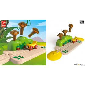 Rail aux trois singes Pop-up - Jouet en bois