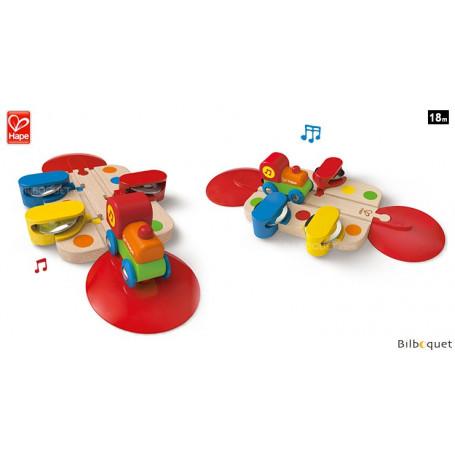 Petit train tambourinant - Jouet d'éveil musical