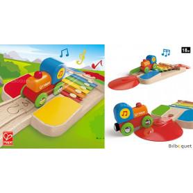 Rail xylophone musical - Jouet d'éveil en bois
