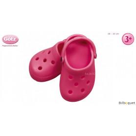 Paire de crocs roses pour poupon de 30 à 33cm